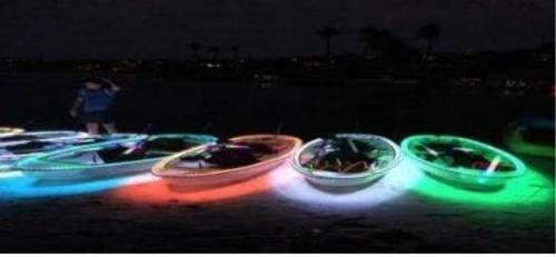 부산 수영강서 야간 LED 카약 체험