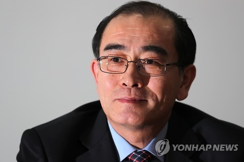 Thae Yong-ho, a former North Korean minister at the North Korean Embassy in London, speaks to Yonhap News Agency on Jan. 8, 2017. (Yonhap)