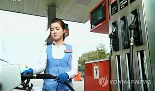 Gas stations operating normally in cities of N. Korea
