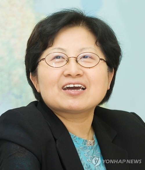 This file photo shows Chung Hyun-back, the nominee for South Korea's gender equality minister, on June 13, 2017. (Yonhap)