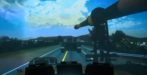 A screen image of the new K9 control simulator in this photo provided by the Defense Acquisition Program Administration (Yonhap)