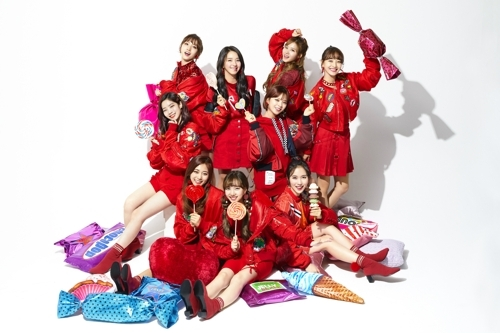 TWICE tops Oricon weekly chart for 'Candy Pop' | Yonhap News
