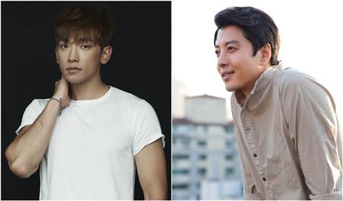 These photos provided by Rain Company and FNC Entertainment show the actors Jung Ji-hoon (L) and Lee Dong-gun (R).