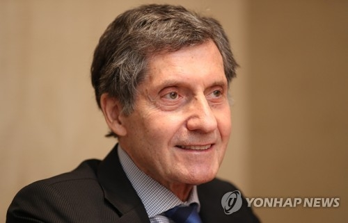 Joseph R. DeTrani, former U.S. deputy nuclear negotiator, speaks during an interview with Yonhap News Agency in Seoul on June 22, 2018. (Yonhap)