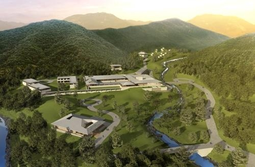 A computer image of the Mungyeong Global Meditation Village to be created in the southern city of Mungyeong, North Gyeongsang Province, by 2021. This photo was provided by the committee in charge of the project. (Yonhap)