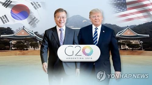 (LEAD) Moon, Trump to meet at G20 summit: White House - 1