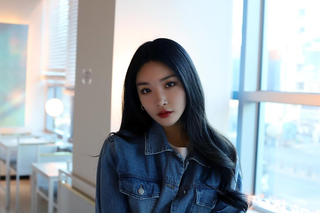 This image of Chungha was provided by MNH Entertainment. (Yonhap)