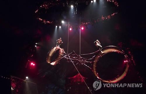 This image of touring circus Kooza was provided by Mast Entertainment. (Yonhap)