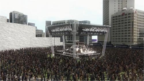 This rendering, provided by the Seoul Metropolitan Government, shows a choir performance to be held on Seoul Square in commemoration of the March 1 Independence Movement. (Yonhap)