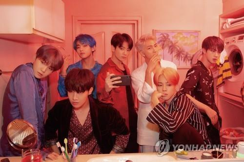 This image of BTS is provided by Big Hit Entertainment. (Yonhap)