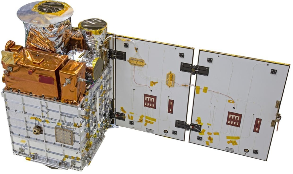 This photo, provided by the science ministry, shows details of the Next Sat-1 satellite. (Yonhap)