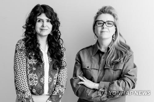 This photo provided by the Gwangju Biennale Foundation shows the artistic director duo -- Natasha Ginwala (L) and Defne Ayas -- who will curate the 13th edition of the art show in 2020. (PHOTO NOT FOR SALE) (Yonhap)