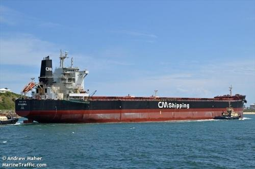 This photo captured from Marine Traffic shows the CK Bluebell. (PHOTO NOT FOR SALE) (Yonhap)