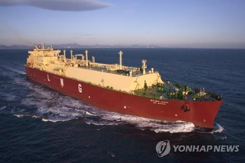 This undated photo provided by Samsung Heavy Industries Co. shows one of its liquefied natural gas carriers. (PHOTO NOT FOR SALE) (Yonhap)