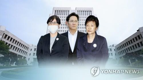 (LEAD) Top court to rule on ex-leader Park, Samsung heir Lee on Aug. 29