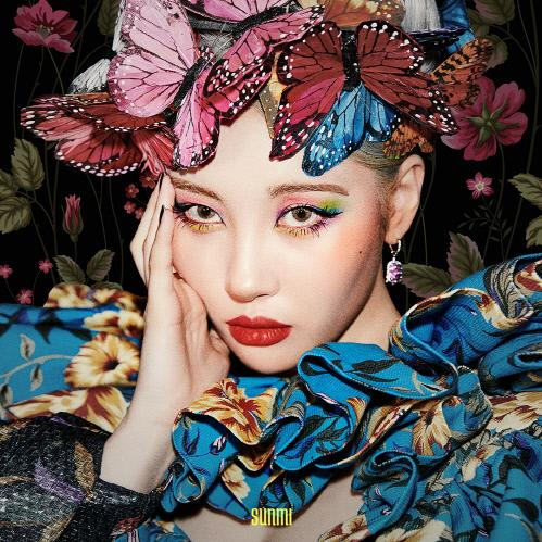 "This jacket image of Sunmi's new single ""Lalalay,"" released on Aug. 27, 2019, is provided by MakeUs Entertainment. (PHOTO NOT FOR SALE) (Yonhap)"