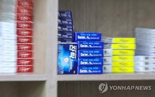 This photo, taken on Sept. 25, 2019, shows ranitidine drug products, including Zantac, at a pharmacy in Seoul. (Yonhap)