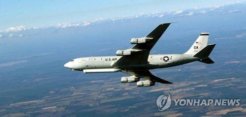 This image captured from the U.S. air force's website shows America's E-8C Joint Surveillance Target Attack Radar System (JSTARS) aircraft. (PHOTO NOT FOR SALE) (Yonhap)