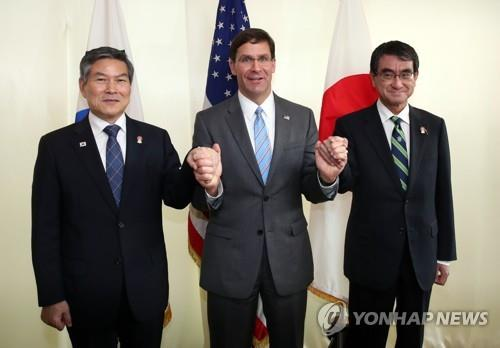 U.S. pressuring S. Korea, Japan to renew intel-sharing pact: defense minister