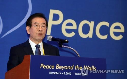 Seoul mayor reemphasizes need for Olympic co-hosting for peace in Northeast Asia