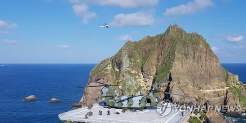 South Korean armed forces hold an exercise to defend the easternmost islets of Dokdo on Aug. 25, 2019. (Yonhap)
