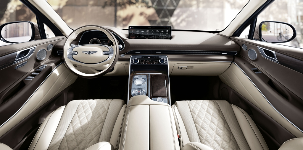 This photo provided by Hyundai Motor Group shows the interior of the GV80 SUV. (PHOTO NOT FOR SALE) (Yonhap)