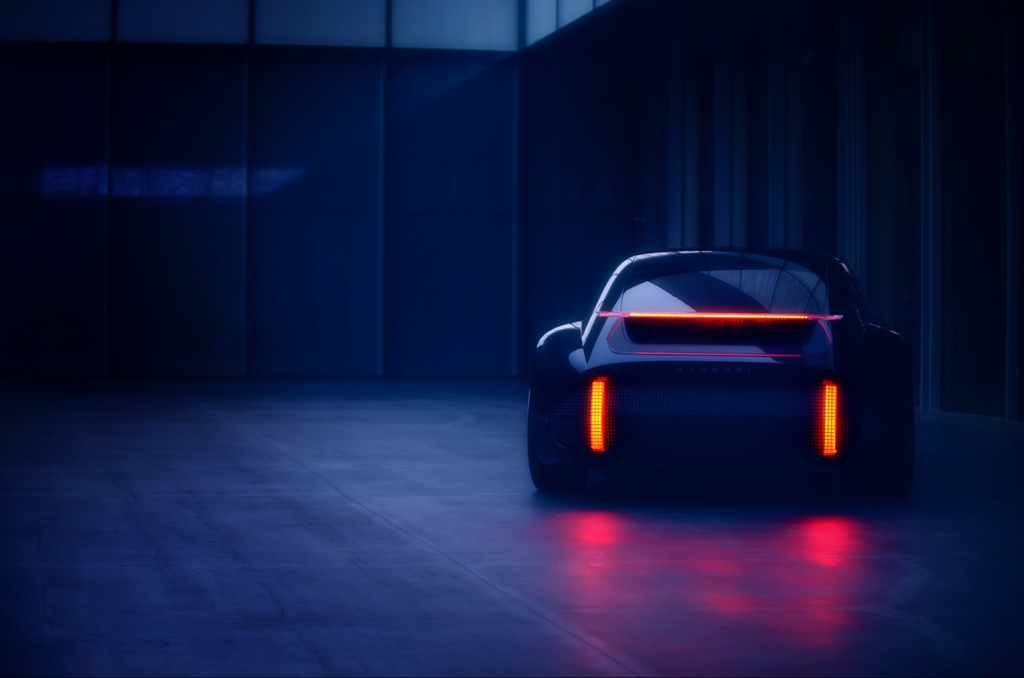 This teaser image provided by Hyundai Motor shows the Prophecy, an all-electric concept, to be unveiled at the Geneva motor show next month. (PHOTO NOT FOR SALE) (Yonhap)