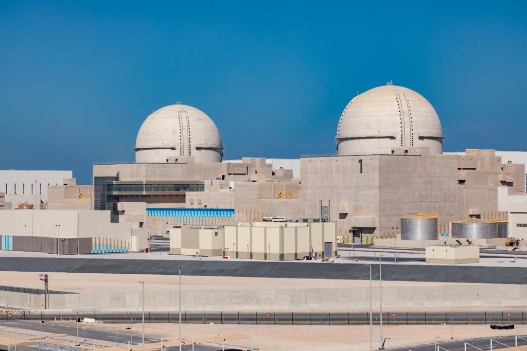 This photo released by the Korea Electric Power Corporation (KEPCO) on March 4, 2020, shows the Barakah nuclear plant, 270 kilometers west of Abu Dhabi. (PHOTO NOT FOR SALE) (Yonhap)
