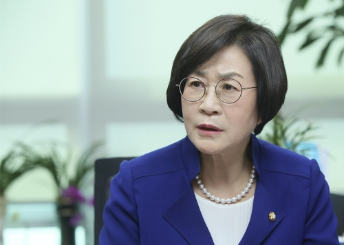 Rep. Kim Sang-hee of the ruling Democratic Party speaks during an interview with Yonhap News Agency on May 25, 2020, at the National Assembly in Seoul. (Yonhap)