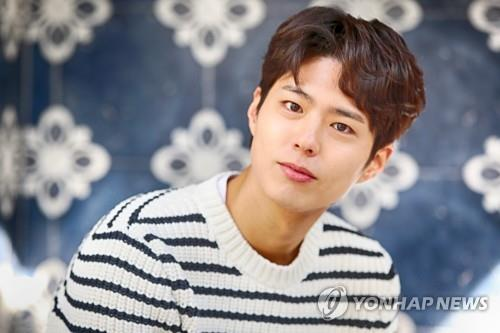 "South Korean actor Park Bo-gum, who starred in the drama ""Encounter,"" poses for a photo prior to an interview with Yonhap News Agency in Seoul on Jan. 28, 2019. (Yonhap)"