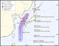 S. Korea to come under direct influence of Typhoon Jangmi from Monday