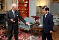King of Sweden says N. Korea's fatal shooting of S. Korean citizen should be resolved through dialogue