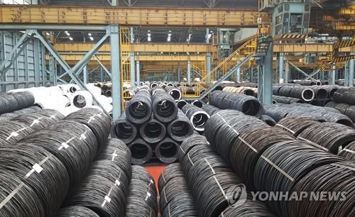 This photo, taken on June 30, 2019, shows steel wire products at POSCO's integrated steel mill in Pohang, about 370 kilometers south of Seoul. (Yonhap)