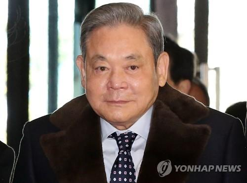 This file photo shows Samsung Group chief Lee Kun-hee, who died on Oct. 25, 2020, at age 78. (Yonhap)