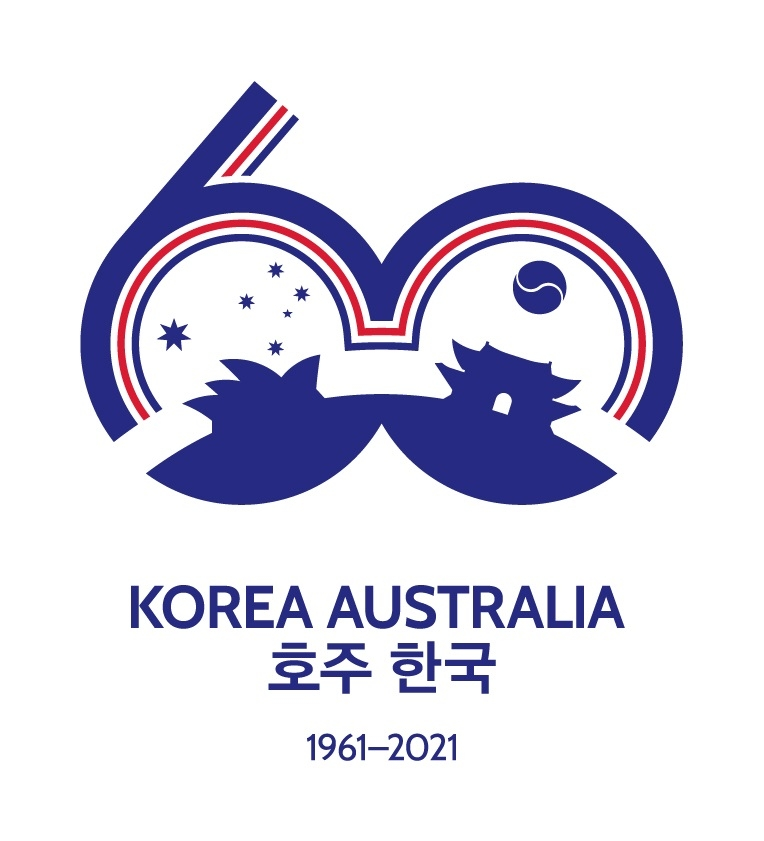This photo, provided by the Australian Embassy in Seoul, shows a logo commemorating the 60th anniversary of the establishment of diplomatic relations between South Korea and Australia. (PHOTO NOT FOR SALE) (Yonhap)