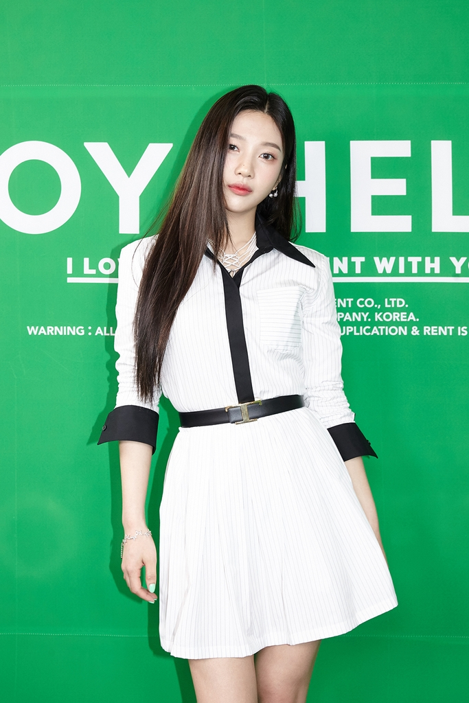 This photo, provided by SM Entertainment, shows K-pop act Red Velvet's member Joy posing during a news conference on May 31, 2021. (PHOTO NOT FOR SALE) (Yonhap)
