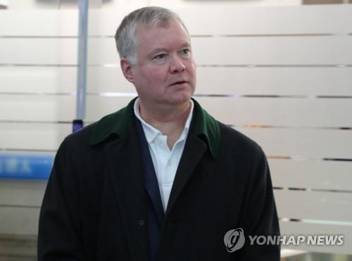 L'émissaire spécial américain pour les discussions sur le nucléaire nord-coréen, Stephen Biegun, arrive à l'aéroport international d'Incheon pour rentrer aux Etats-Unis.