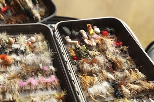 동물의 털 등으로 직접 만든 플라이(미끼)들 [사진/성연재 기자]