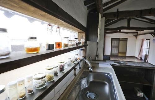 영화 주인공이 요리를 하던 주방 [사진/성연재 기자]