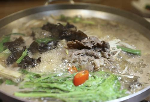 상주에서 생산된 명실상감한우로 만든 소 불고기 [사진/성연재 기자]
