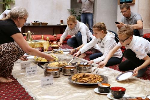 에미라티 전통 식사 [사진/한미희 기자]