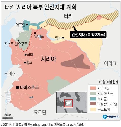 지난 1월 논의된 시리아 북동부 안전지대 계획
