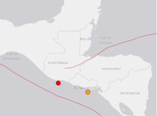 과테말라 남쪽 해저서 규모 5.5 지진 - 1