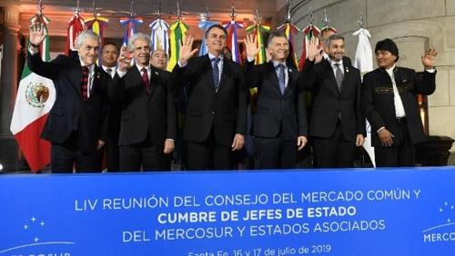 지난 7월 아르헨티나에서 열린 메르코수르 정상회의 [브라질 뉴스포털 UOL]