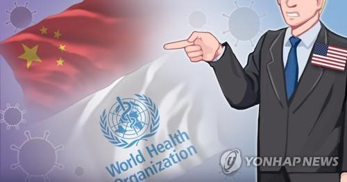 미국, 코로나19 관련 WHO와 중국 책임론 주장(PG)