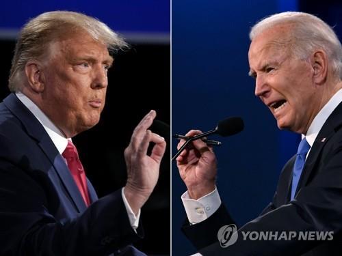 트럼프와 바이든(오른쪽)