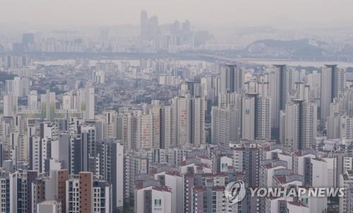 서울 서대문구와 마포구 일대의 아파트