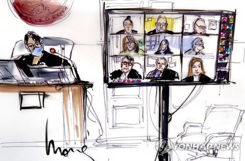 23일 LA 법원에서 열린 브리트니 스피어스의 친부 후견인 지위 박탈 요청 심리