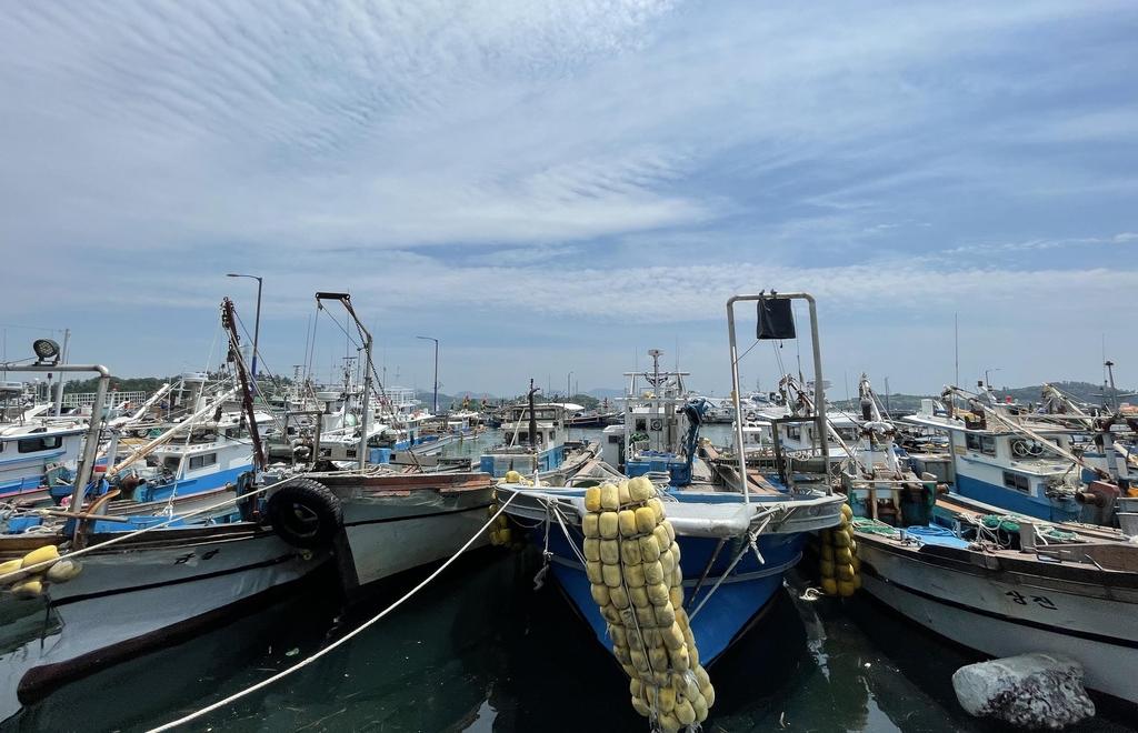여수 국동항에 정박중인 어선들