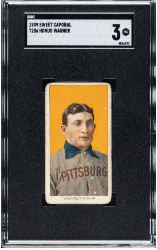 호너스 와그너 T206 카드.